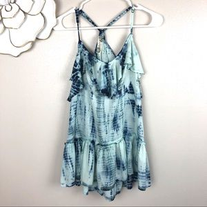 Free People Alligator tie dyed tank top